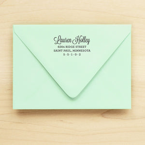 Polished Personalized Return Address Stamp