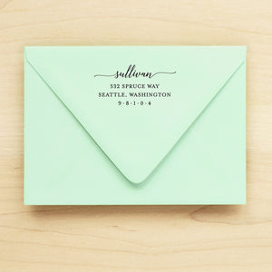 Serene Personalized Return Address Stamp