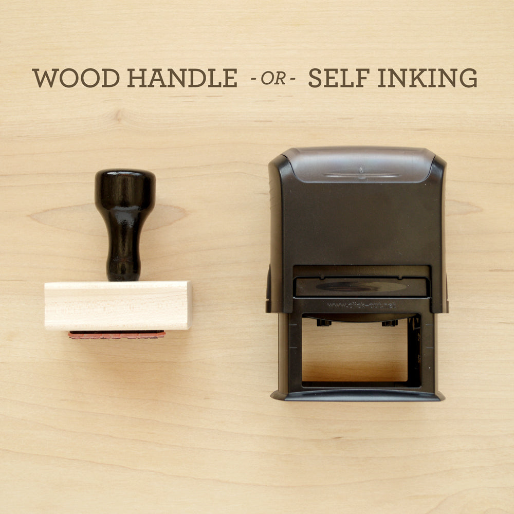 Wood Handle Self Inking Return Address Stamp