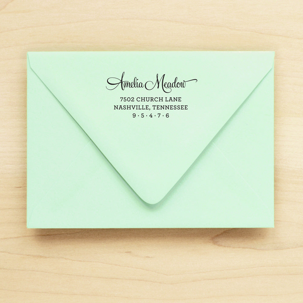 Willow Personalized Return Address Stamp