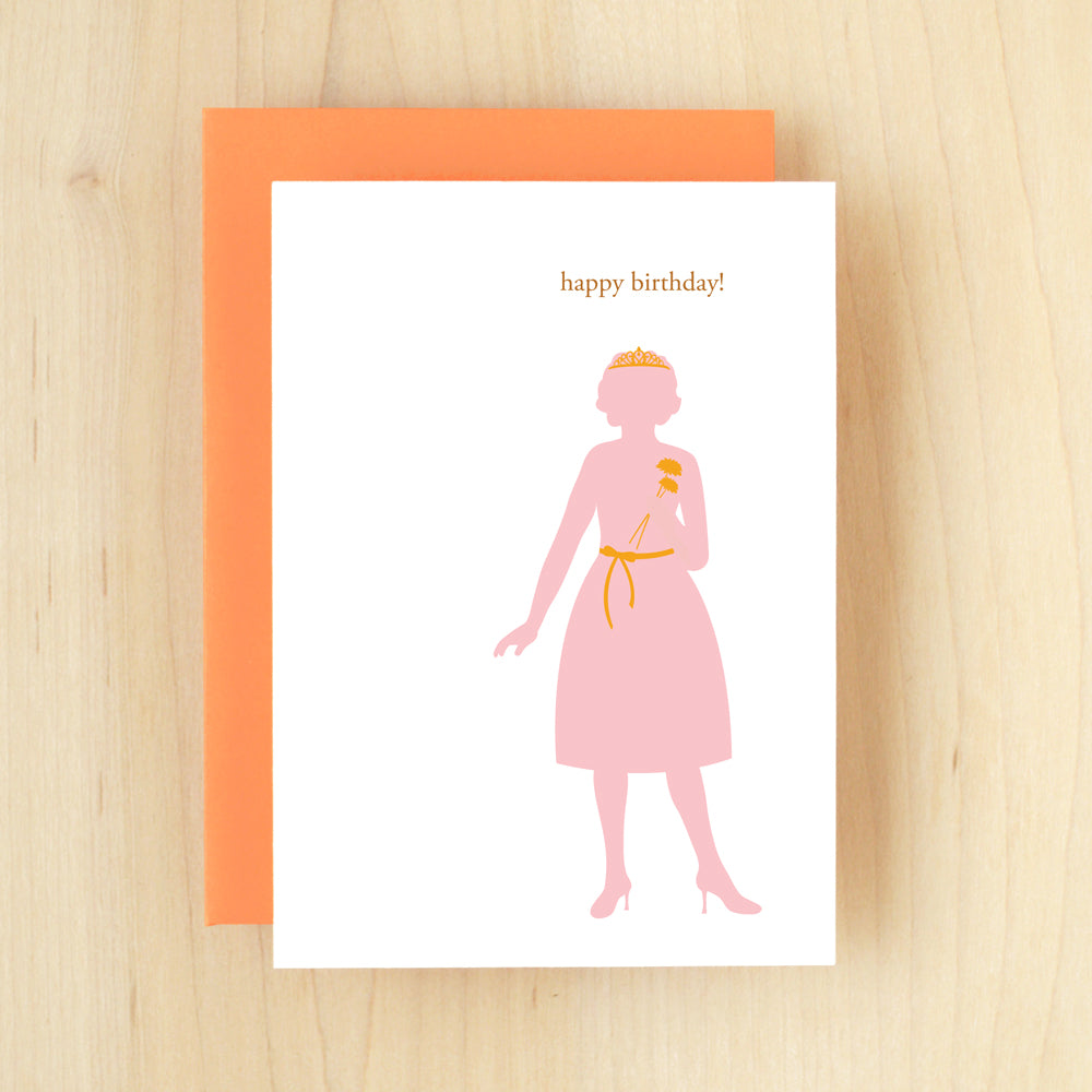 """Happy Birthday!"" Silhouette Princess Greeting Card #106"