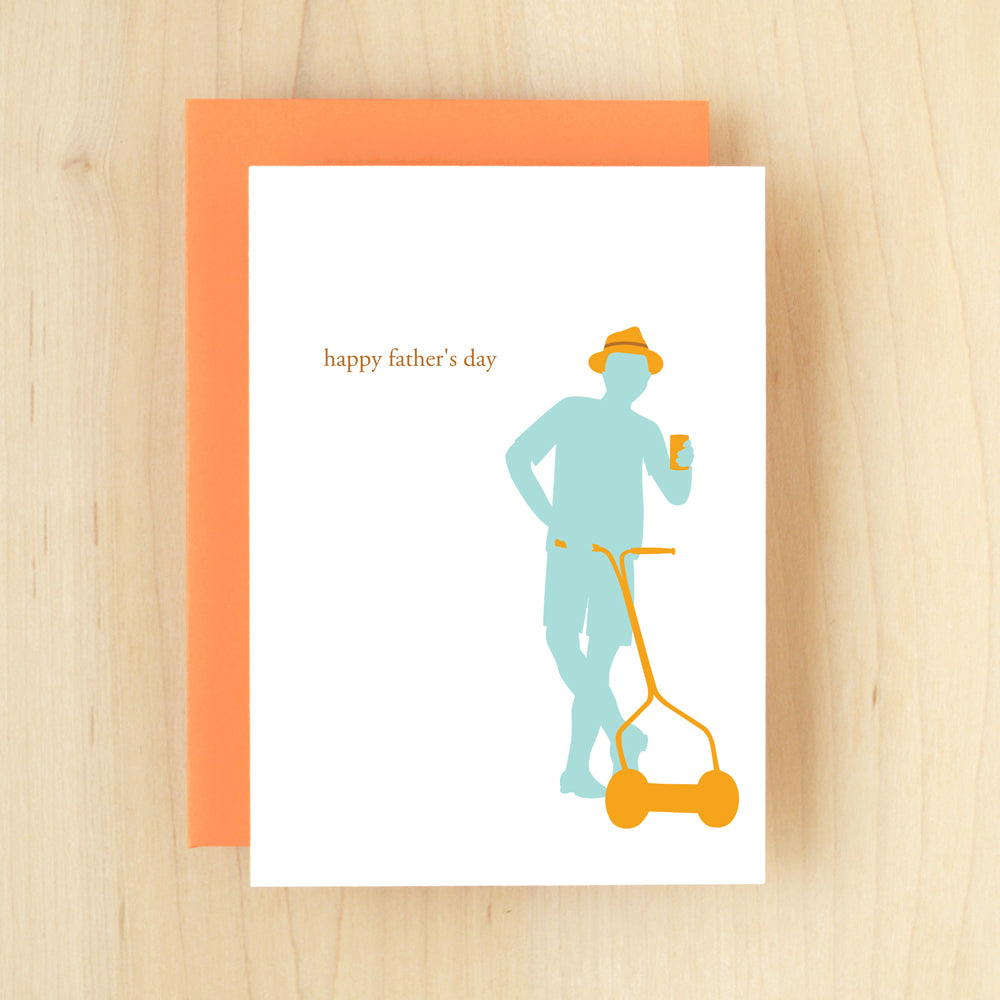 """Happy Father's Day"" Silhouette Father Greeting Card #111"