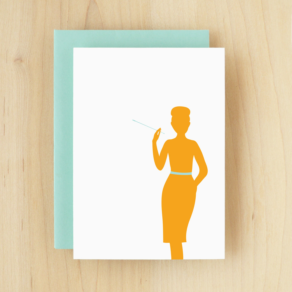 BLANK Silhouette Audrey Greeting Card #126