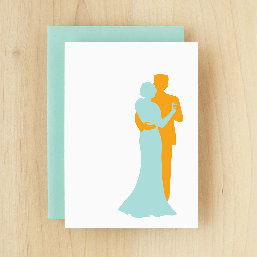 BLANK Silhouette Sway Greeting Card #130