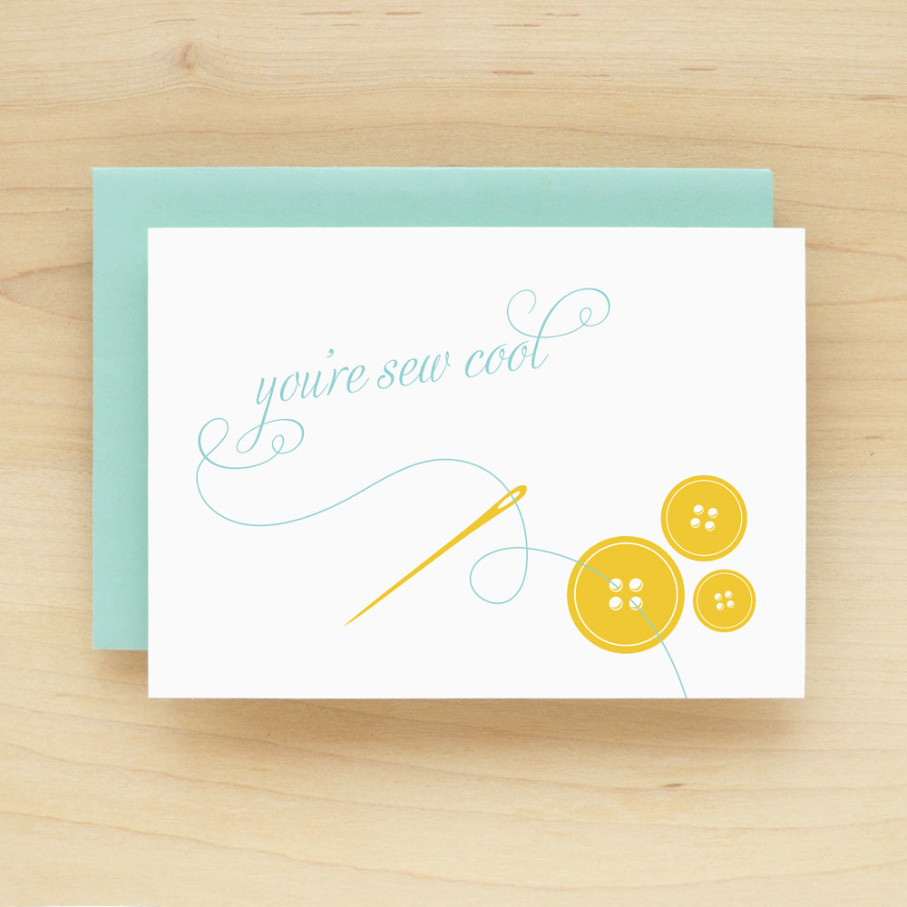 """You're Sew Cool"" Cool Thread Greeting Card #157"