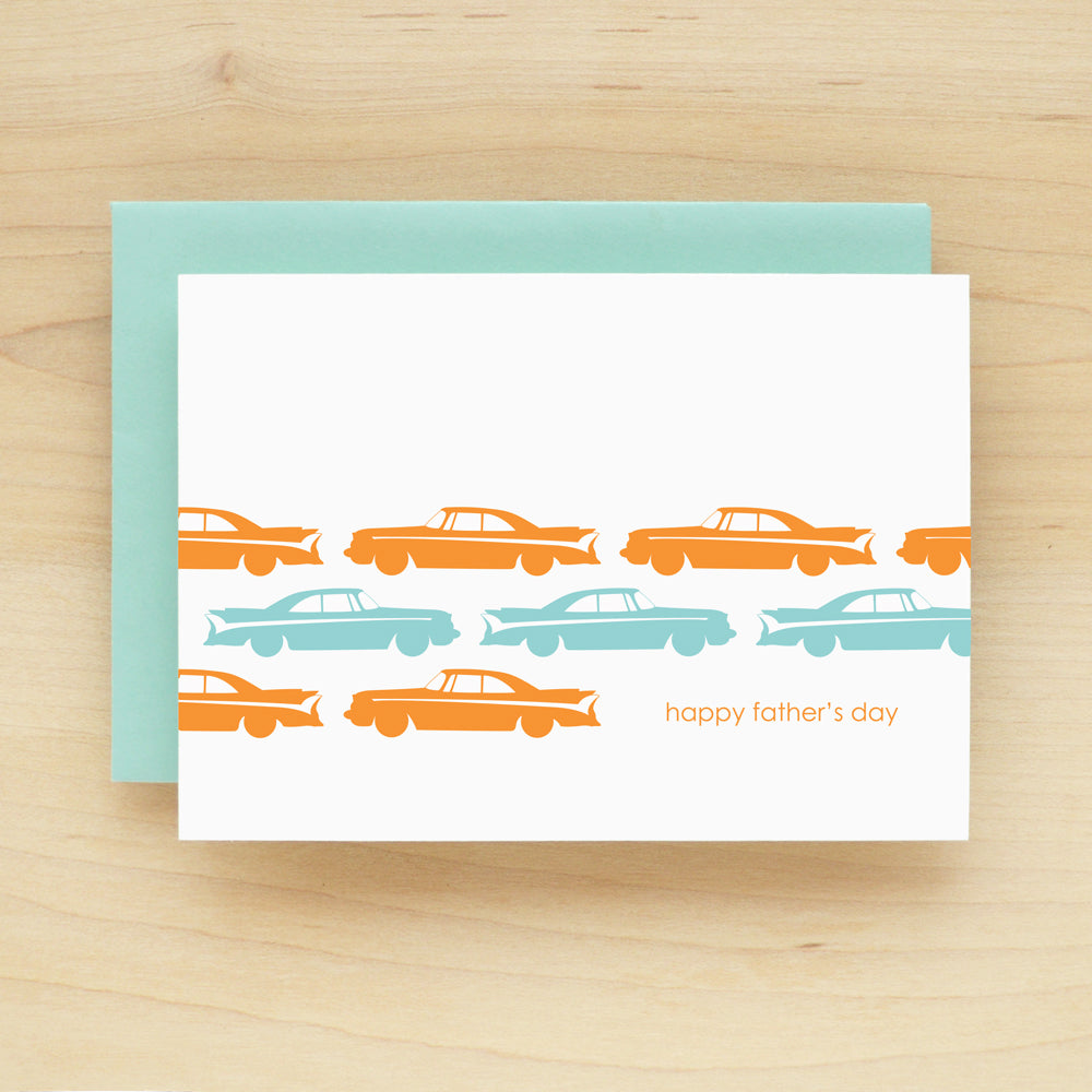 """Happy Father's Day"" Dad Cars Greeting Card #168"