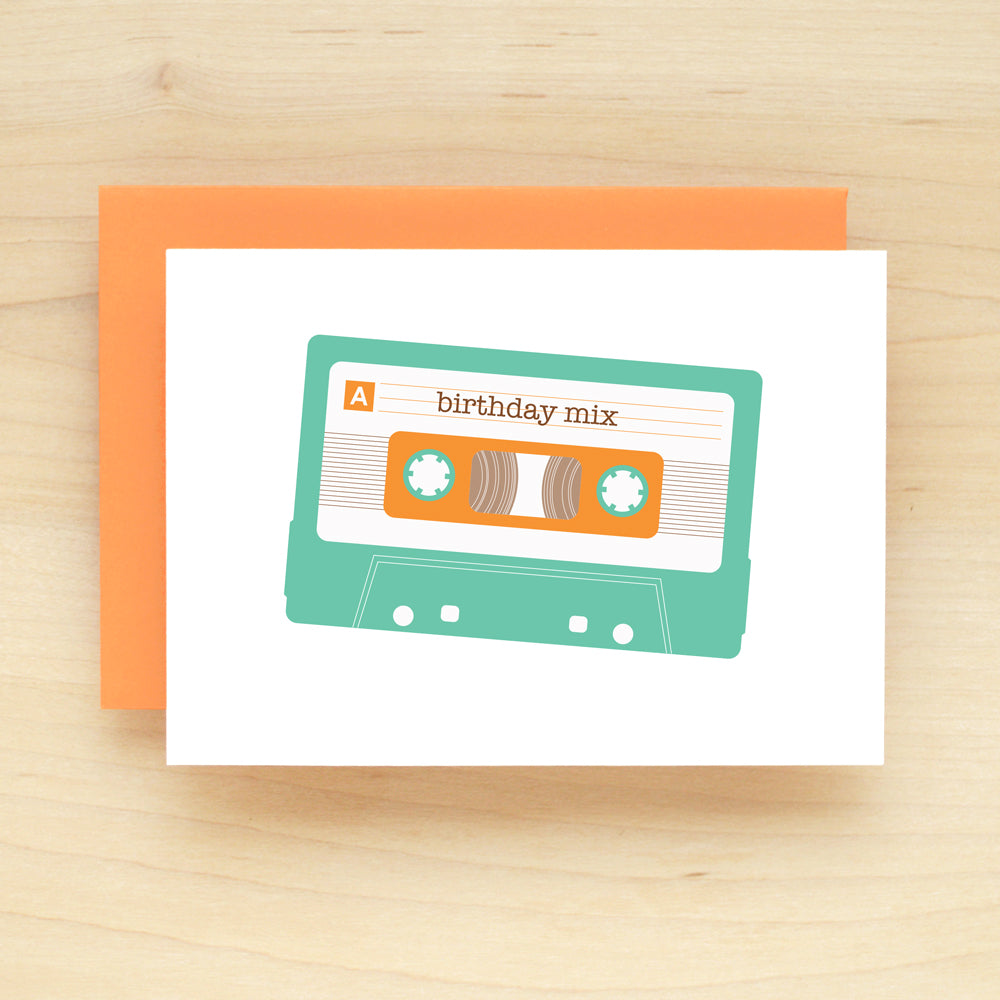 Mix Tape Birthday Greeting Card