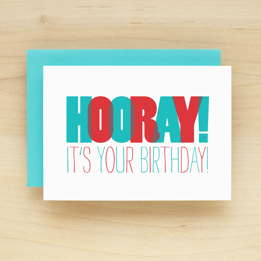 """Hooray! It's Your Birthday!"" Hooray Birthday Greeting Card #196"