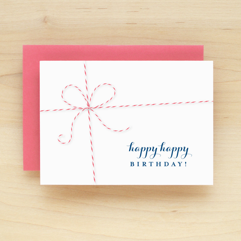 """Happy Happy Birthday"" Baker Birthday Greeting Card #208"