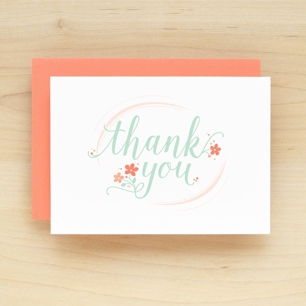 """Thank You"" Poppy Thank You Greeting Card #215"