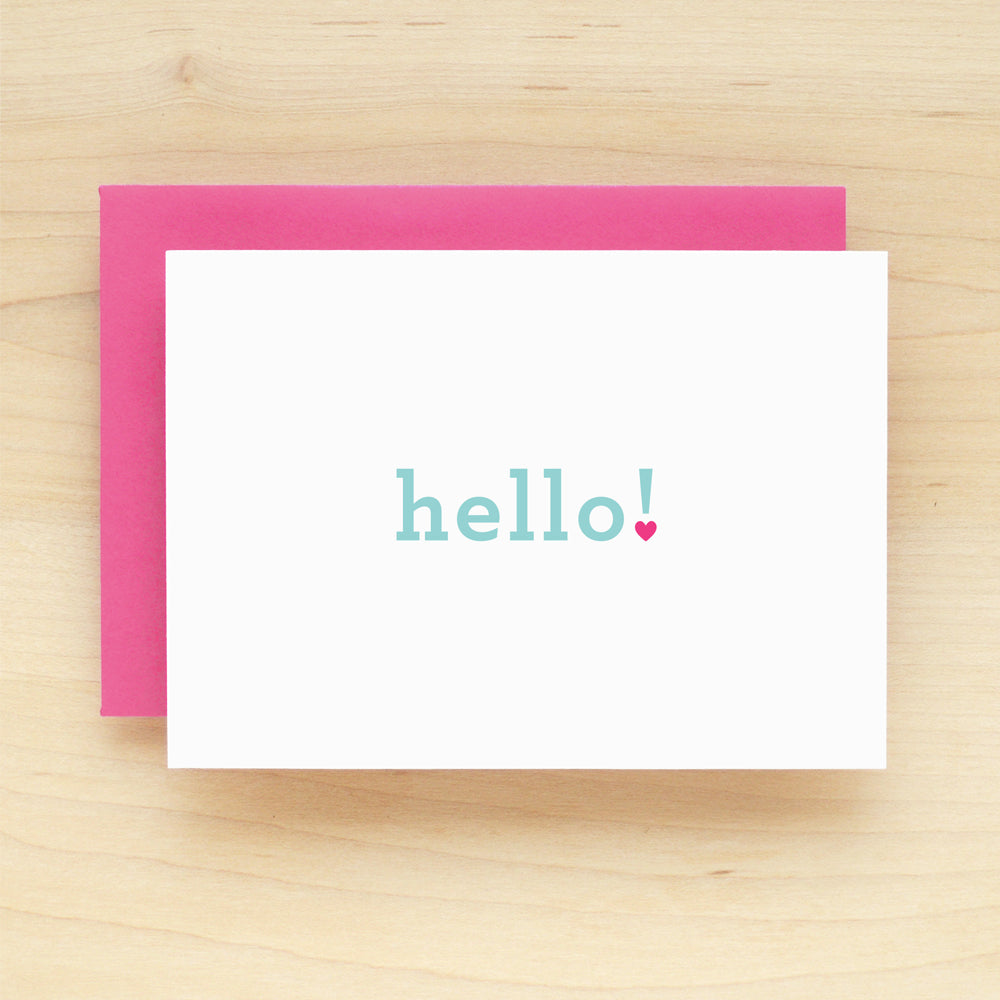 """Hello!"" Hello Heart Greeting Card #216"