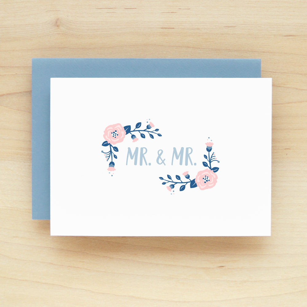 """Mr. & Mr."" Posie Greeting Card #218"
