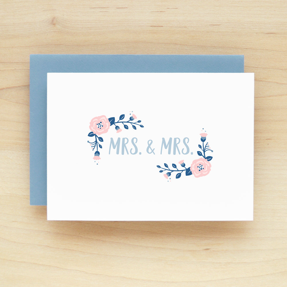 """Mrs. & Mrs."" Posie Greeting Card #219"