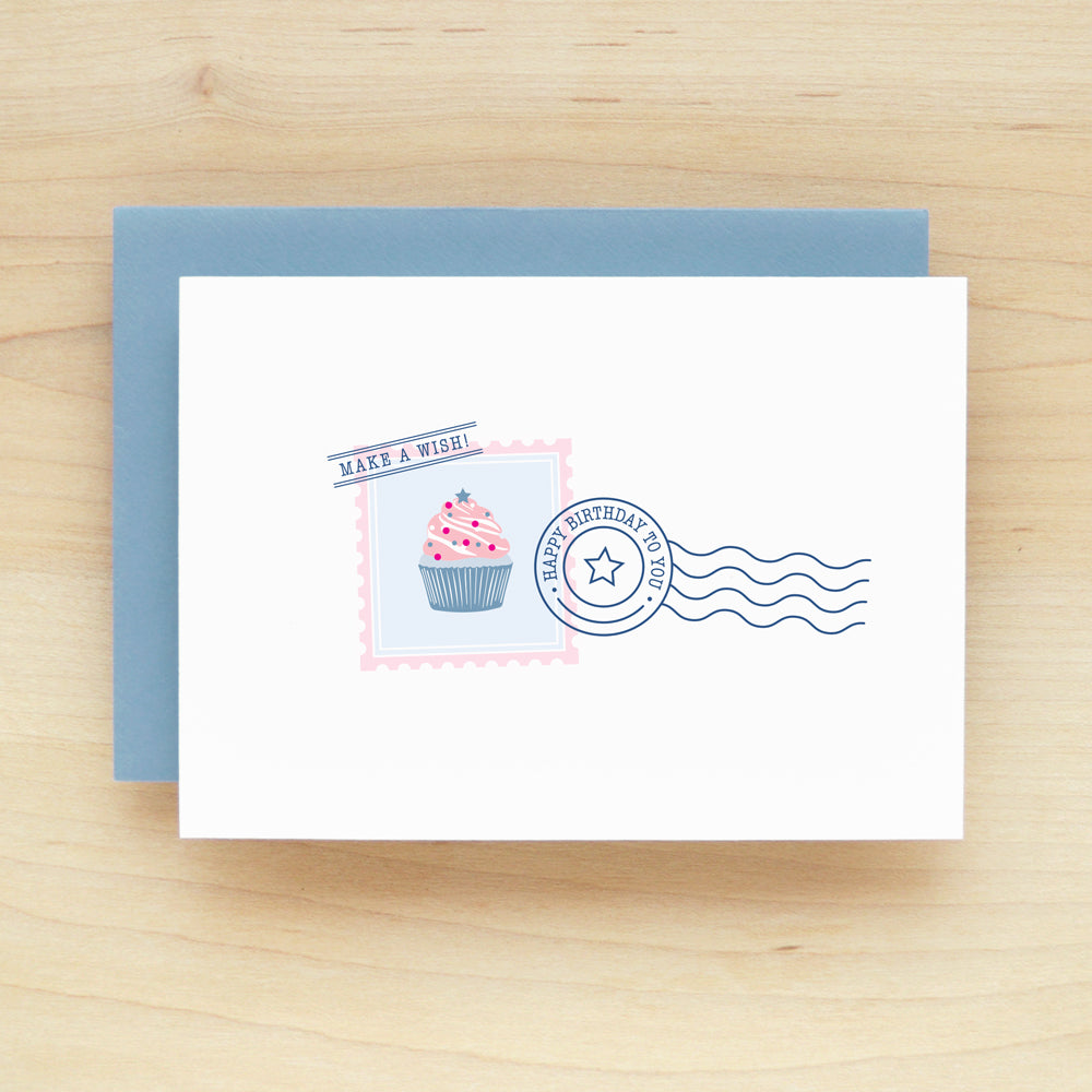 """Happy Birthday To You"" Postage Greeting Card #222"