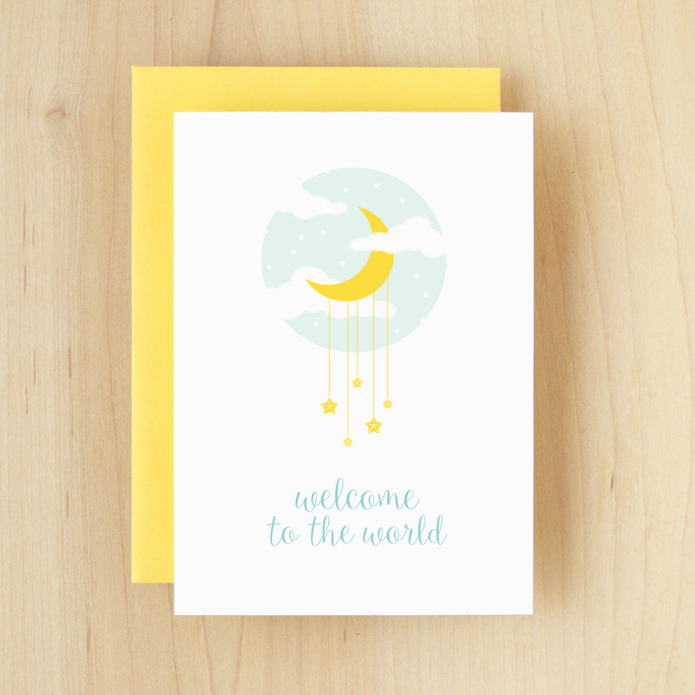 """Welcome To The World"" Moon Greeting Card #234"