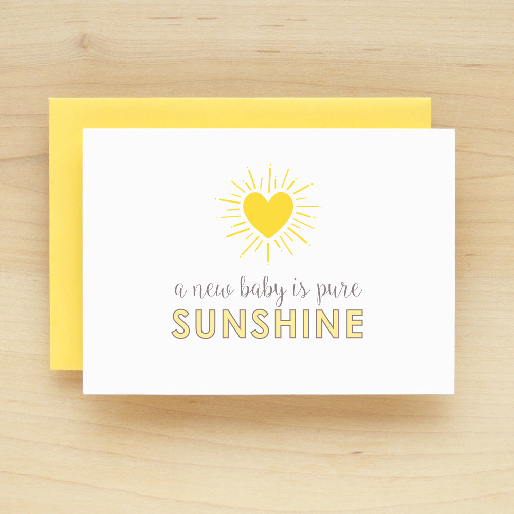 """A New Baby Is Pure Sunshine"" Sunrise Greeting Card #235"