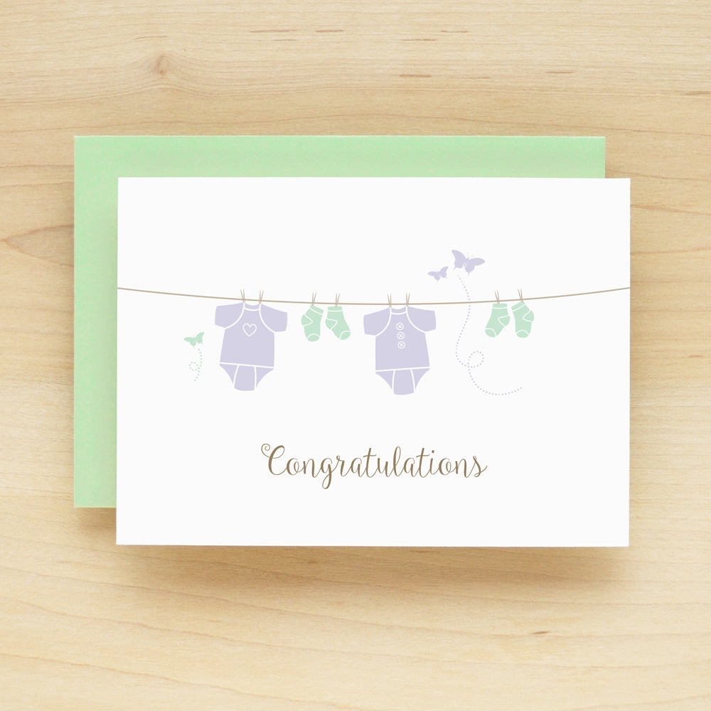 """Congratulations"" Onesie Greeting Card #236"