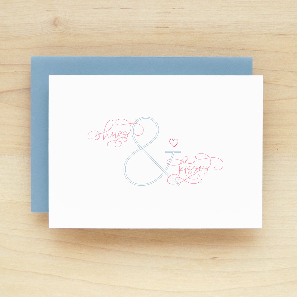 Ampersand Hugs and Kisses Greeting Card