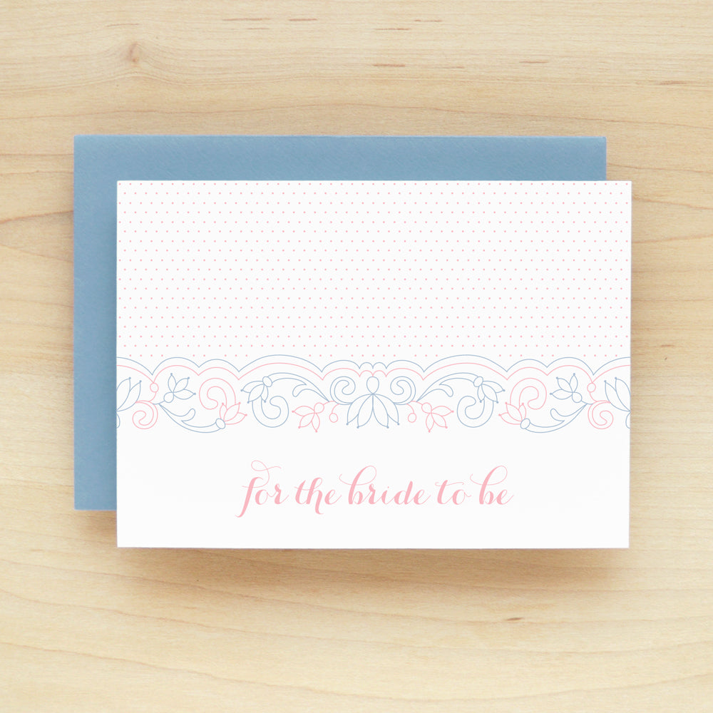 Lace Bridal Shower Greeting Card