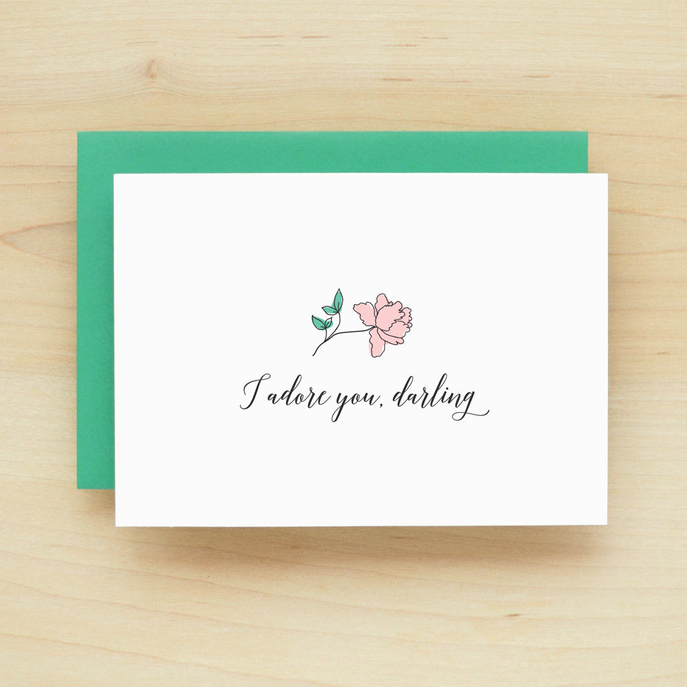 I adore you, darling Greeting Card #242