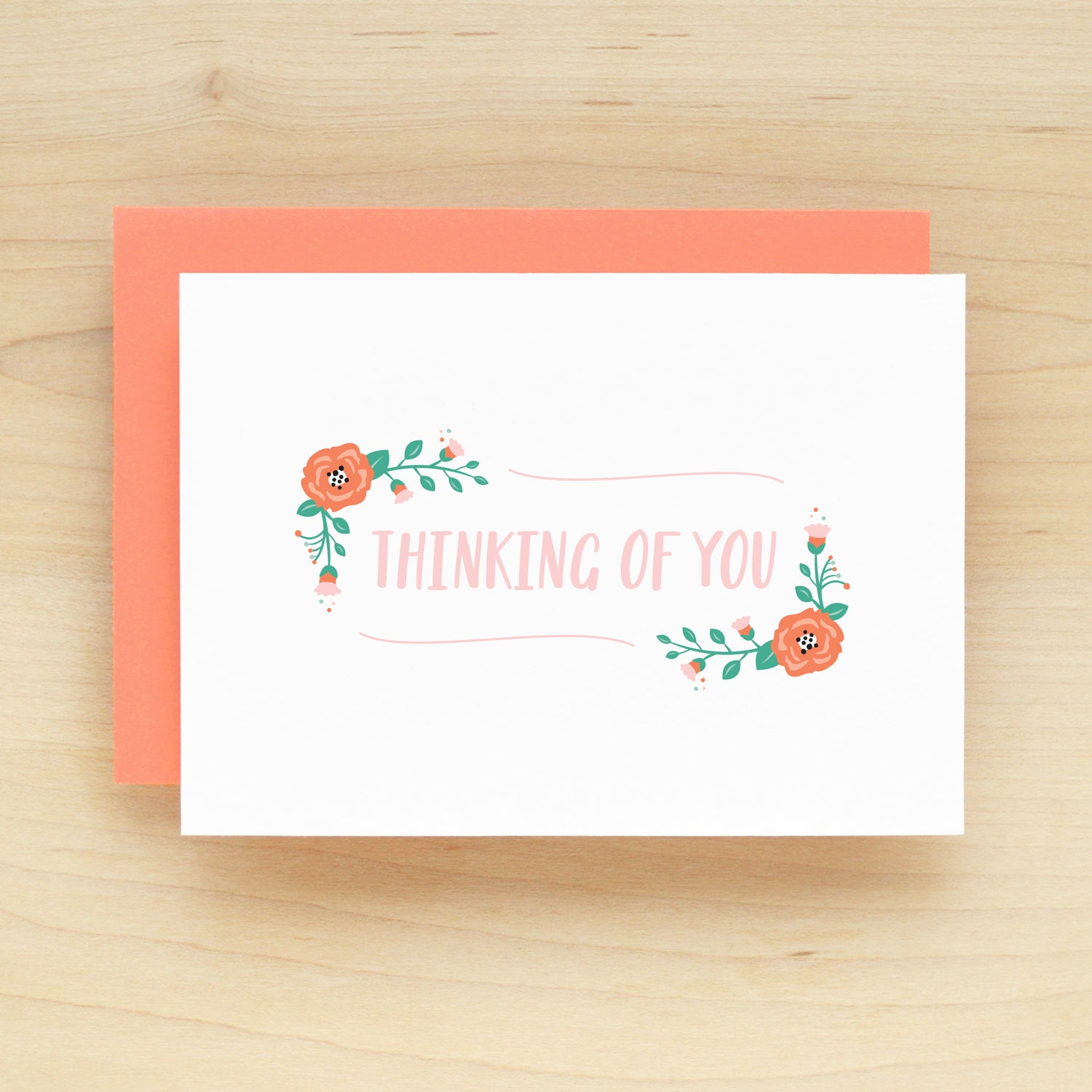 Thinking Of You Posie Flower Greeting Card