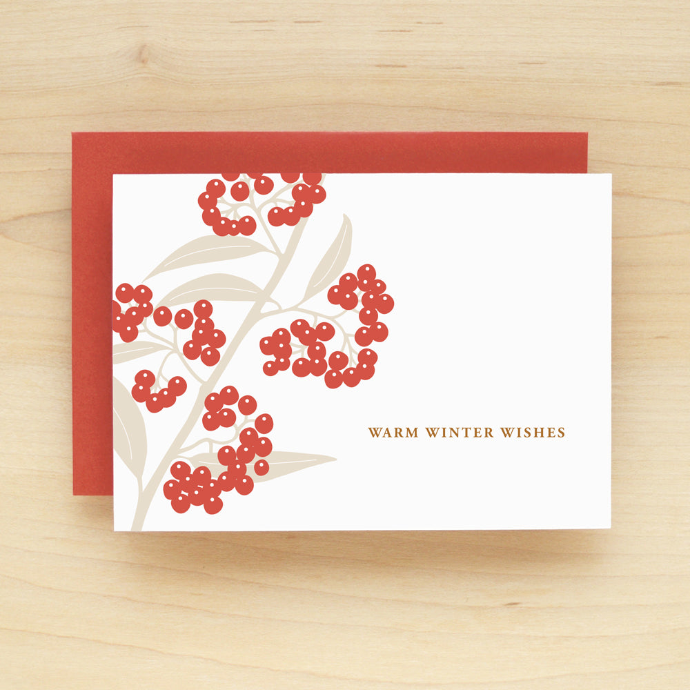 Berries Holiday Christmas Card Set