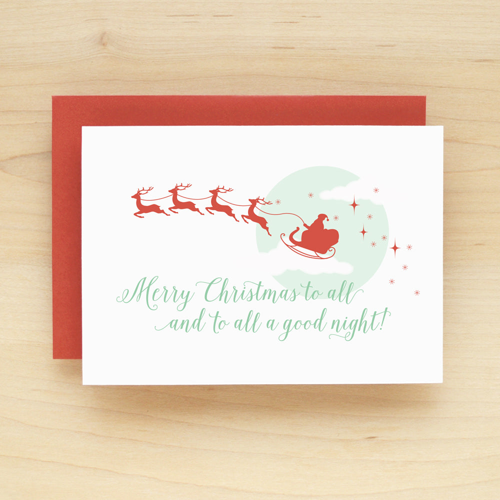 Goodnight Santa Holiday Christmas Card Set