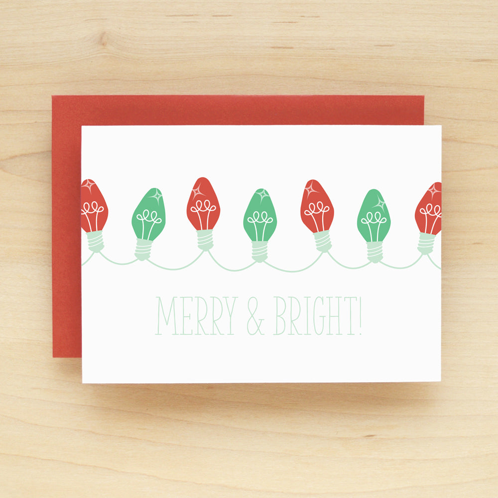 Merry & Bright Holiday Christmas Card Set