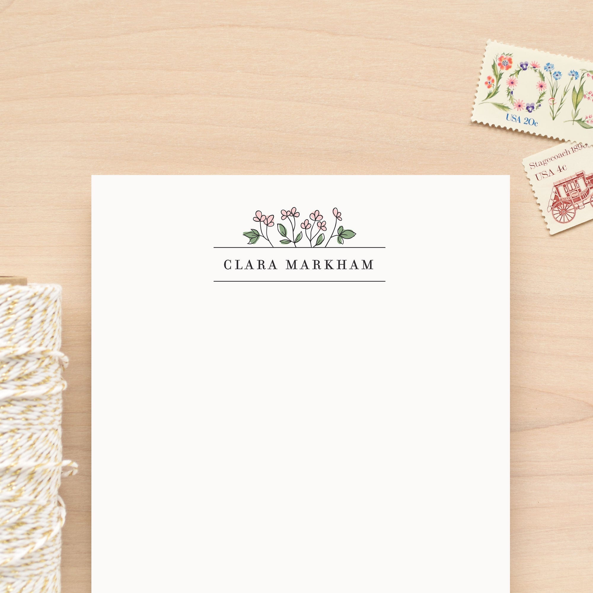 Begonia Personalized Notepad