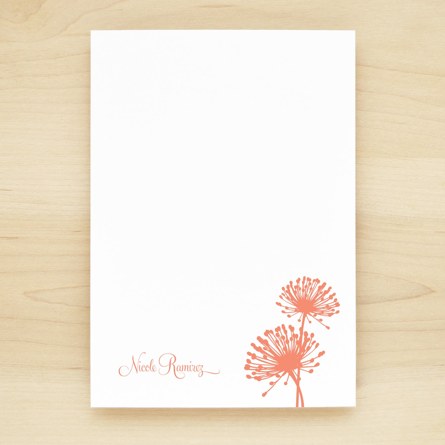 Bloom Personalized Notepad