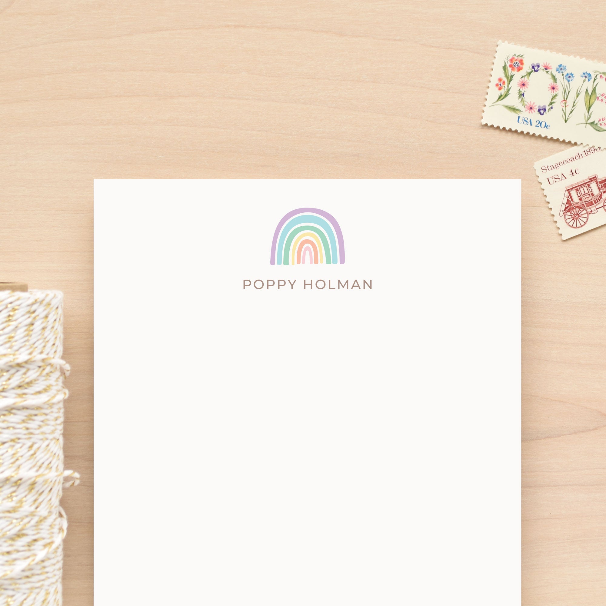 Daydream Rainbow Personalized Notepad