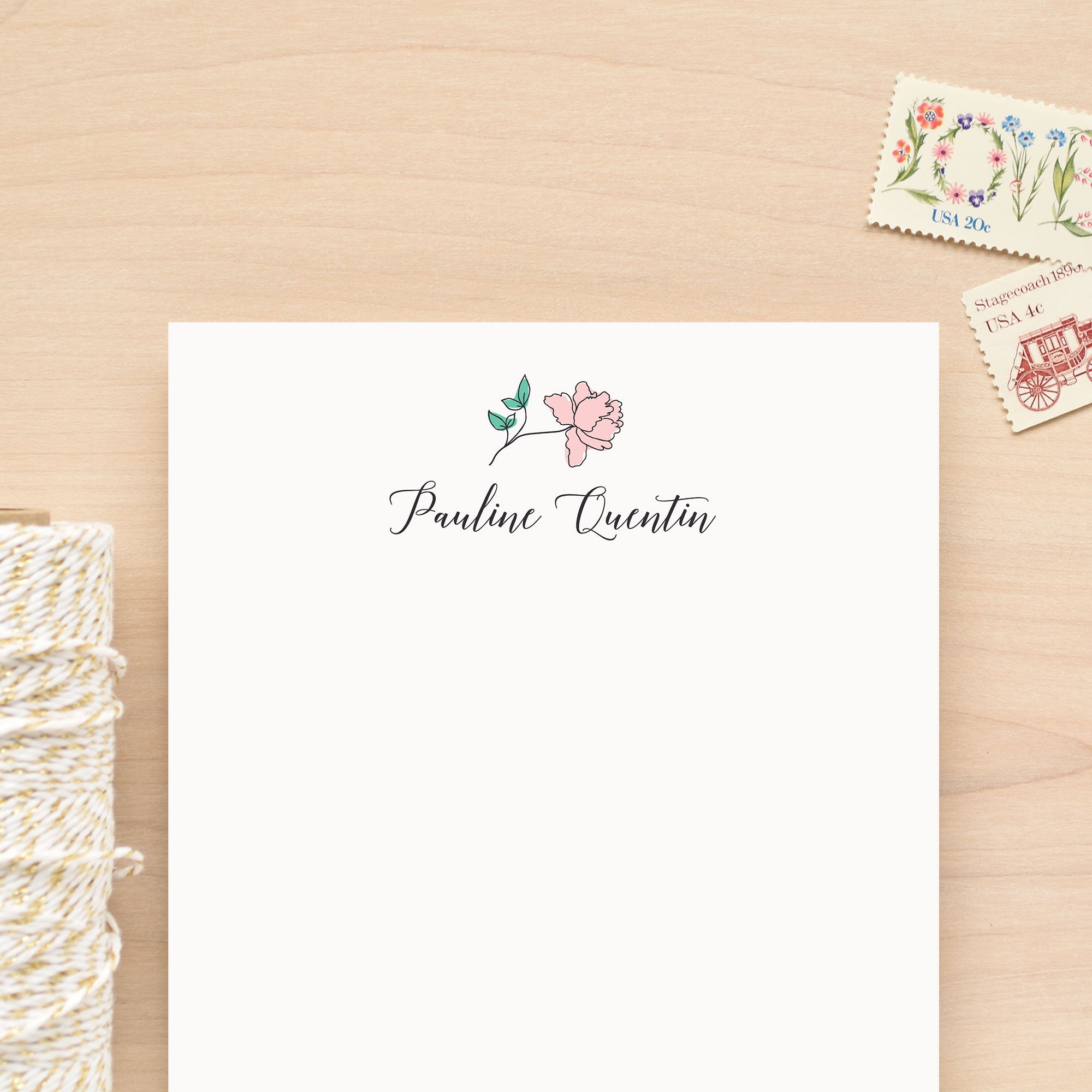 Garden Personalized Notepad