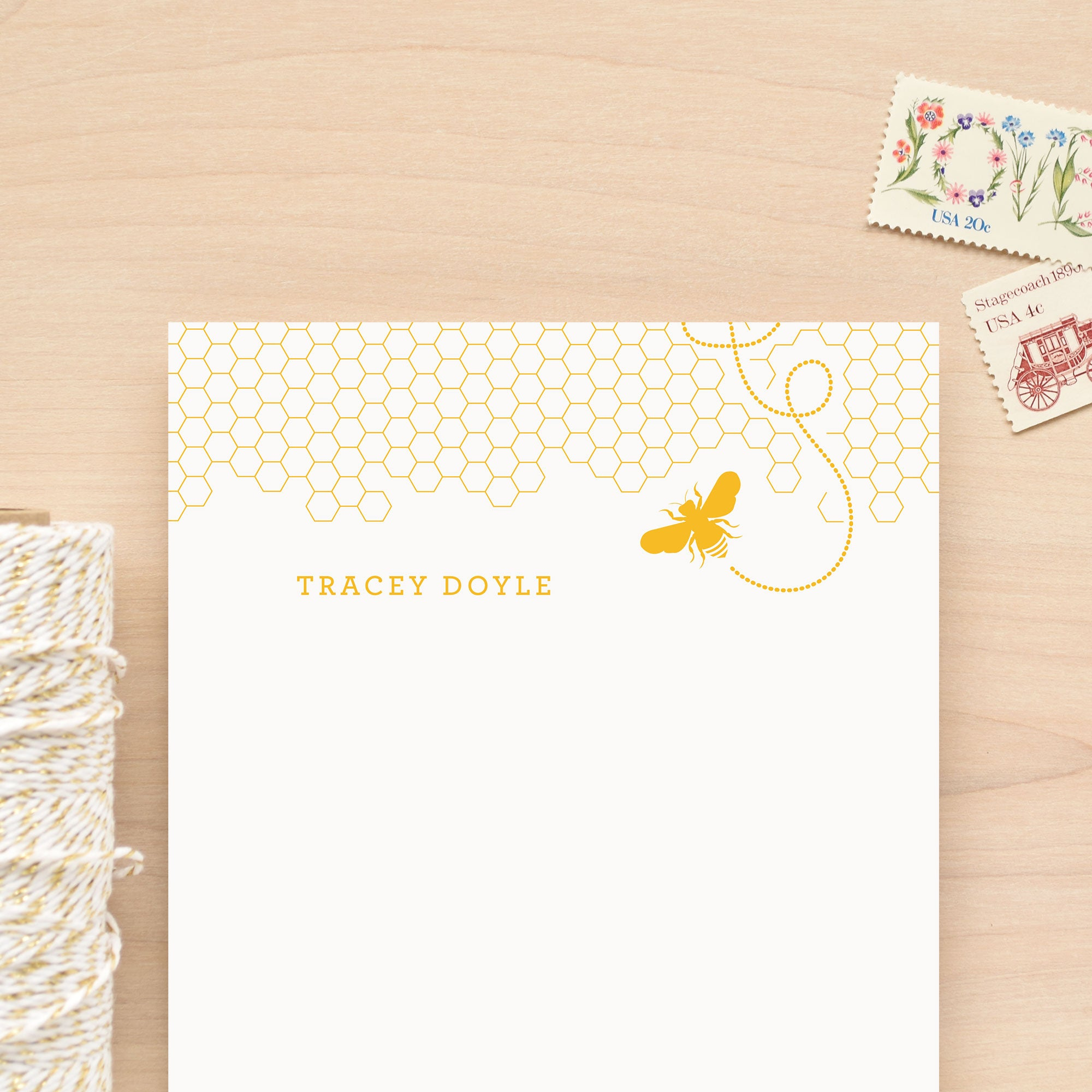 Honey Personalized Notepad