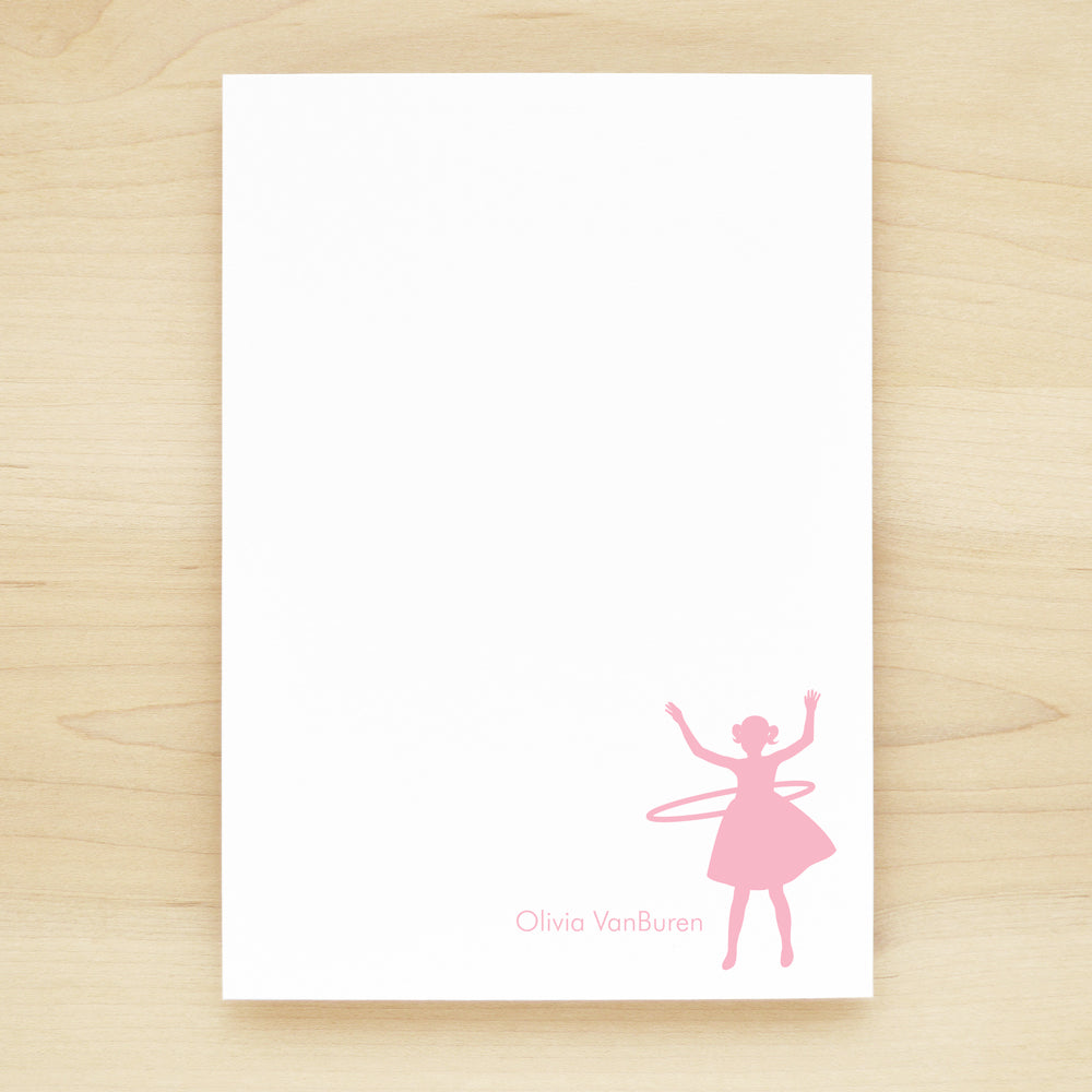 Hula Hoop Personalized Notepad