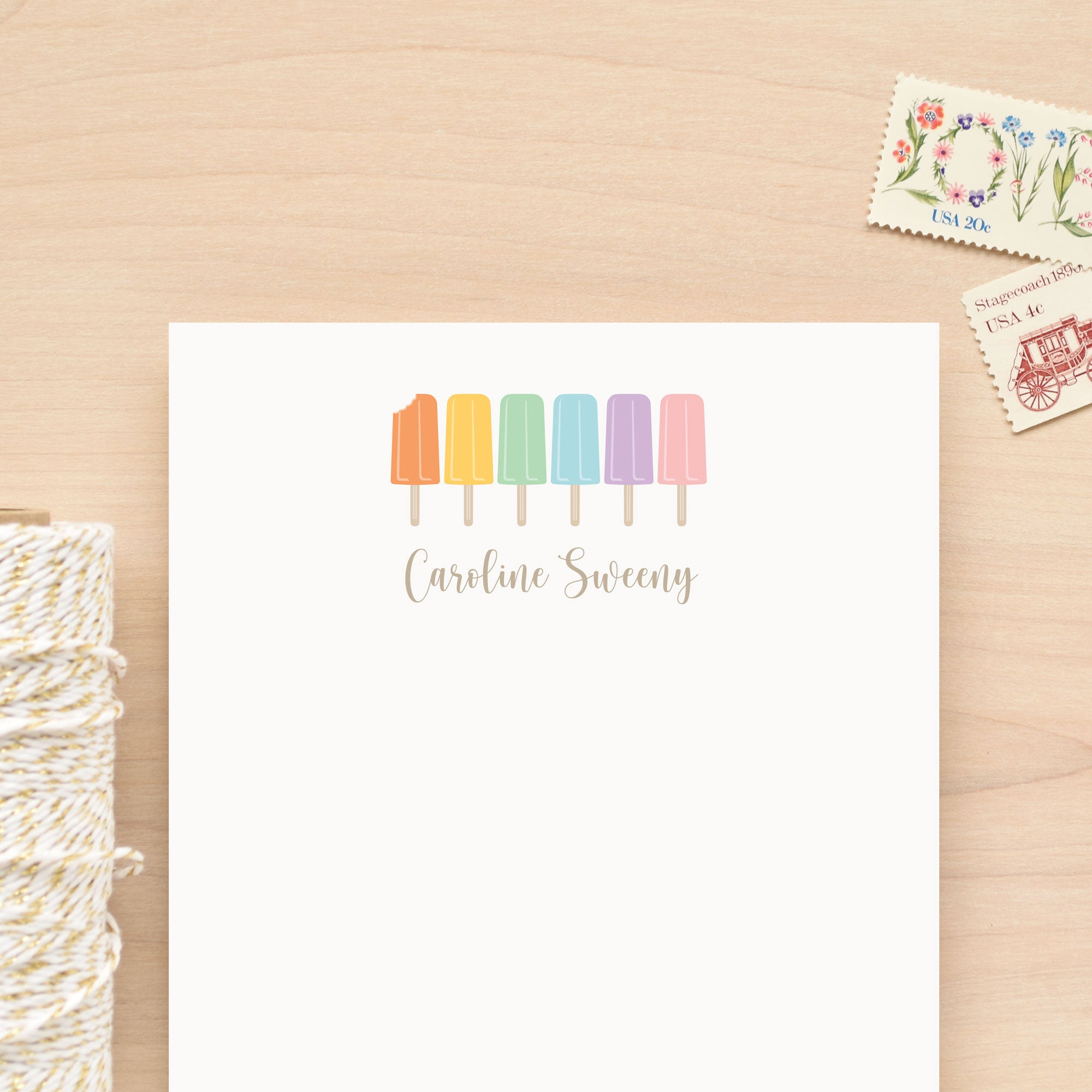 Ice Pop Personalized Notepad