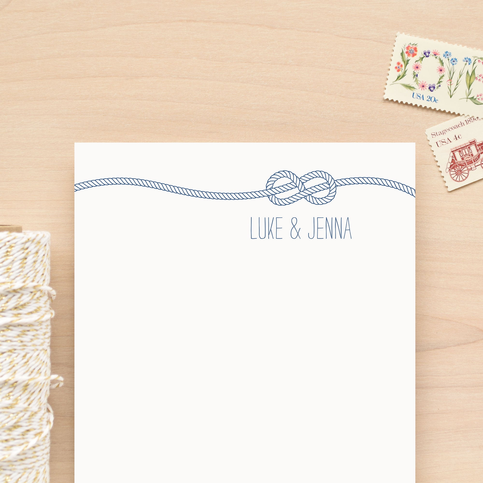 Knot Personalized Notepad