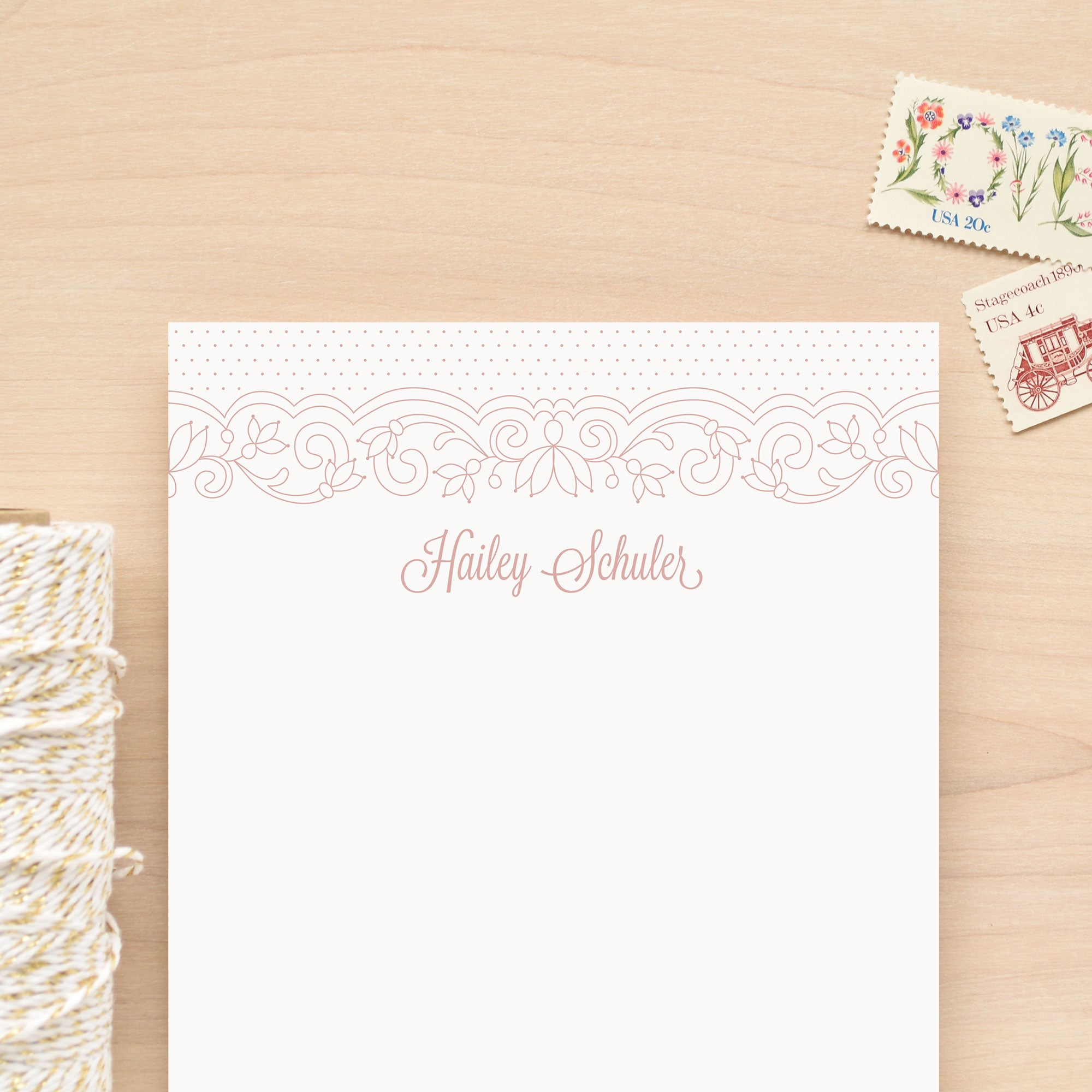 Lace Personalized Notepad
