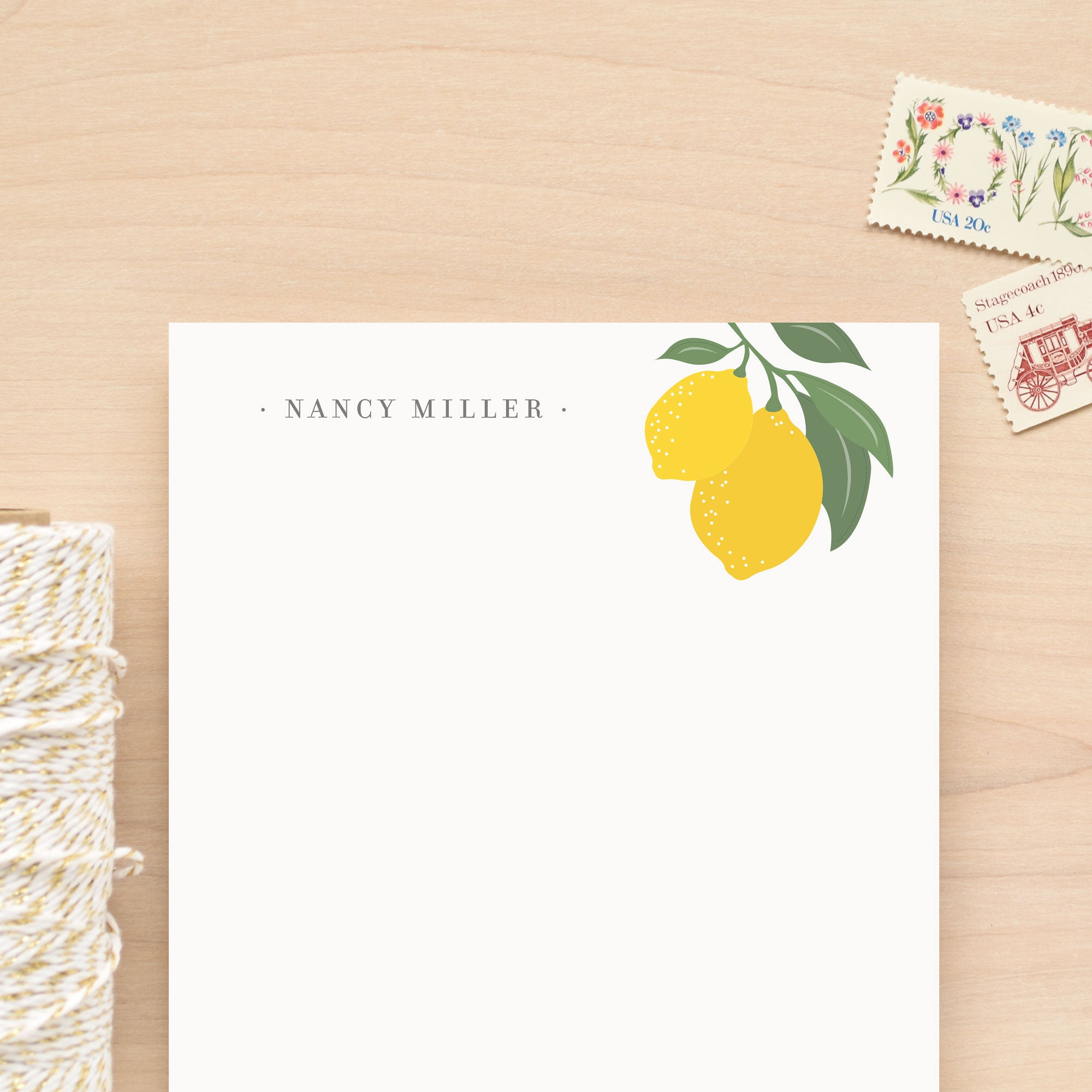 Limone Personalized Notepad