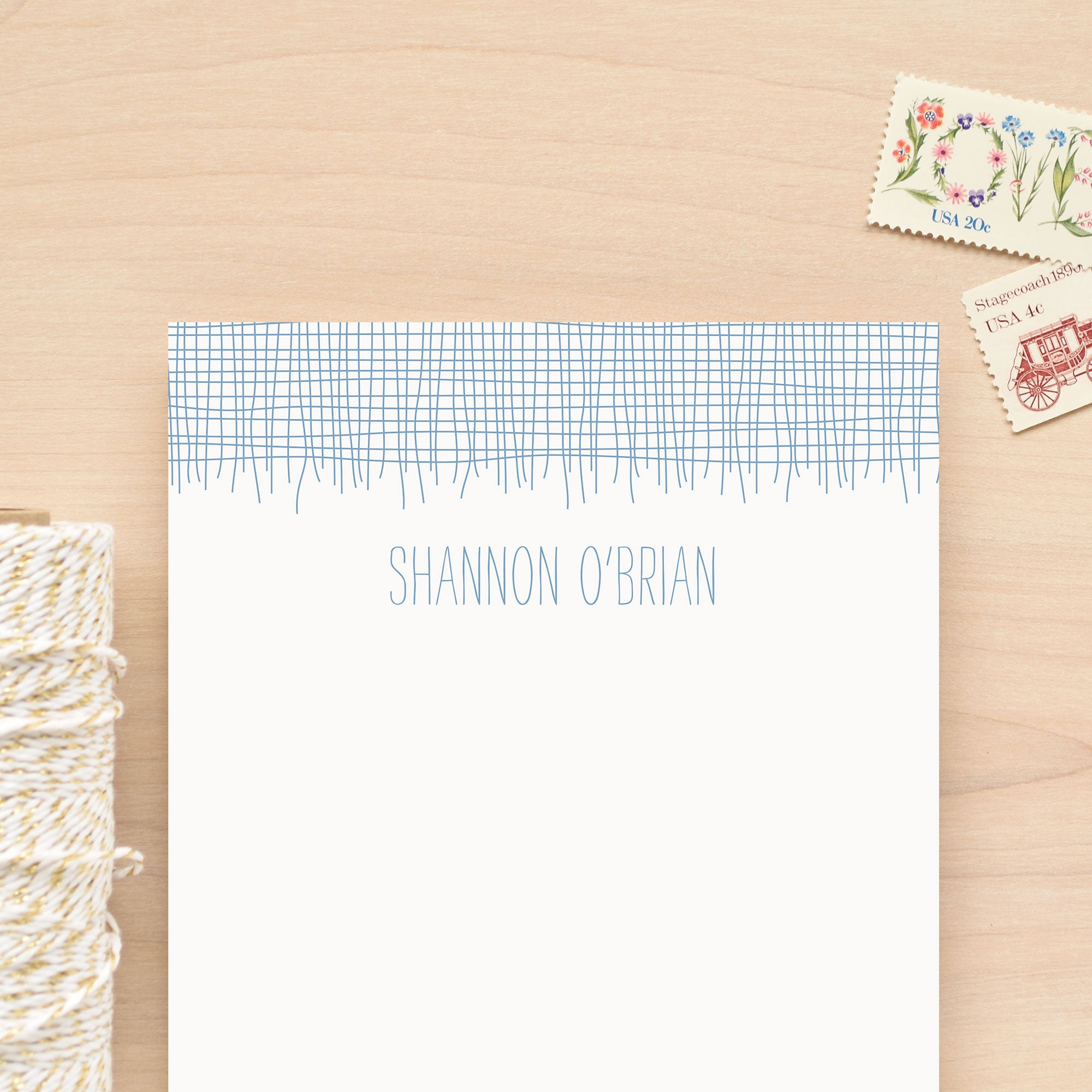 Linen Personalized Notepad