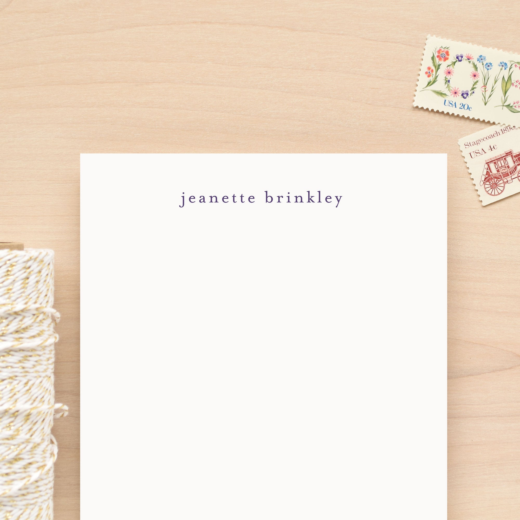 Lowercase Personalized Notepad