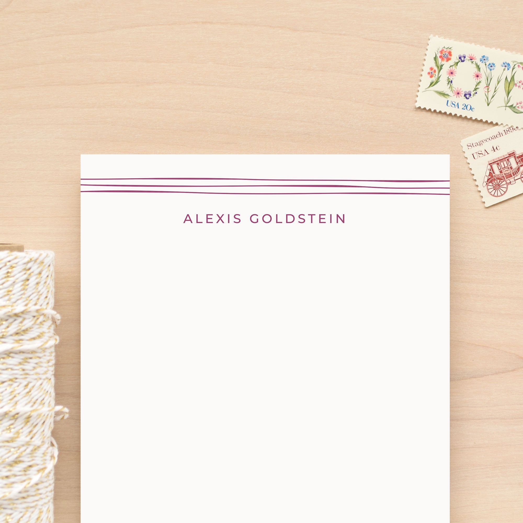 Ribbon Personalized Notepad