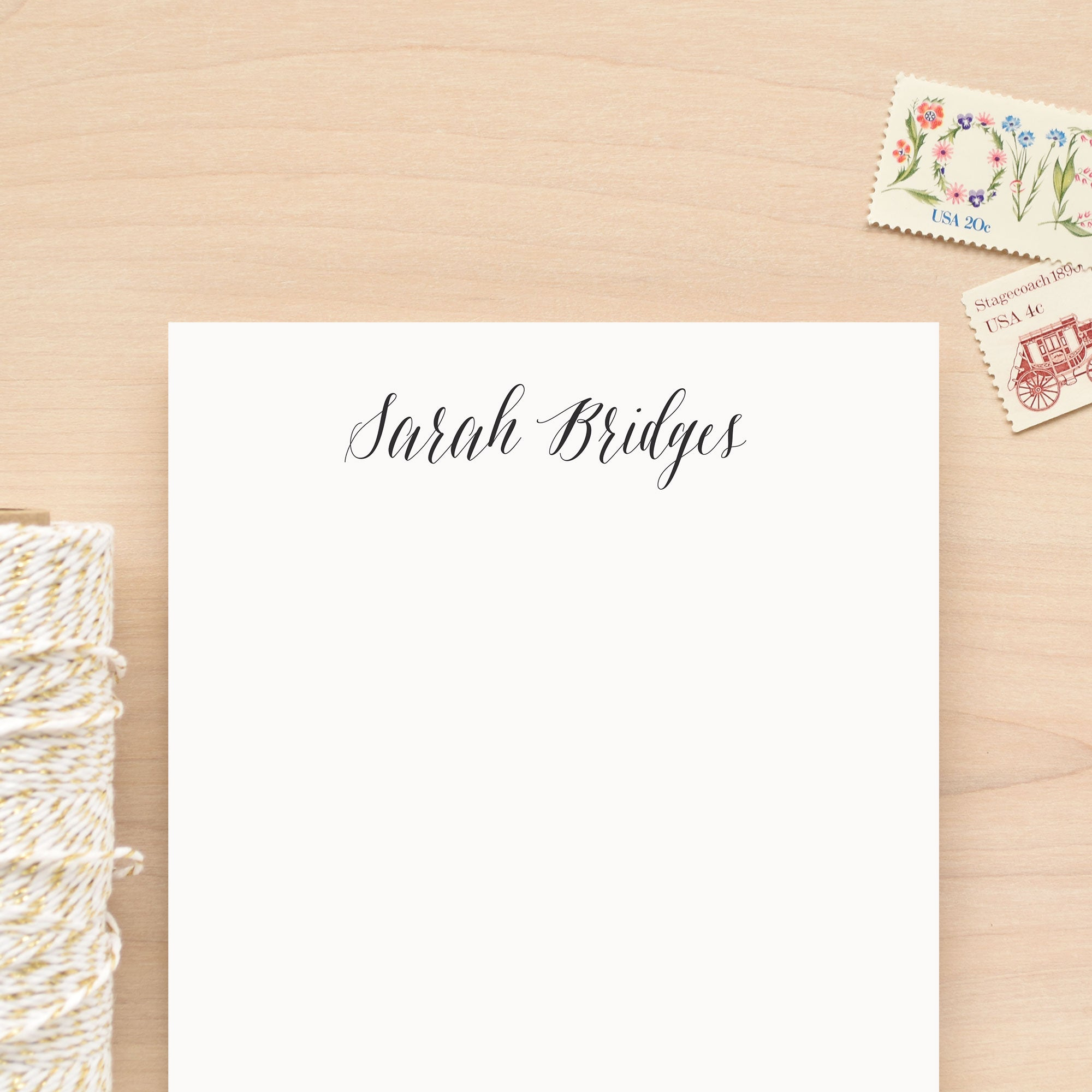 Script Personalized Notepad