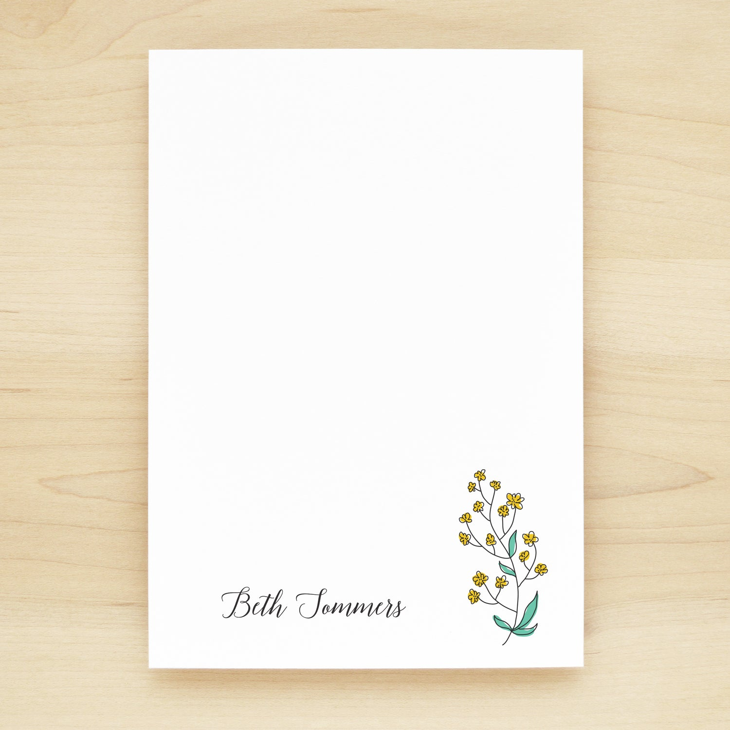 Spring Personalized Notepad