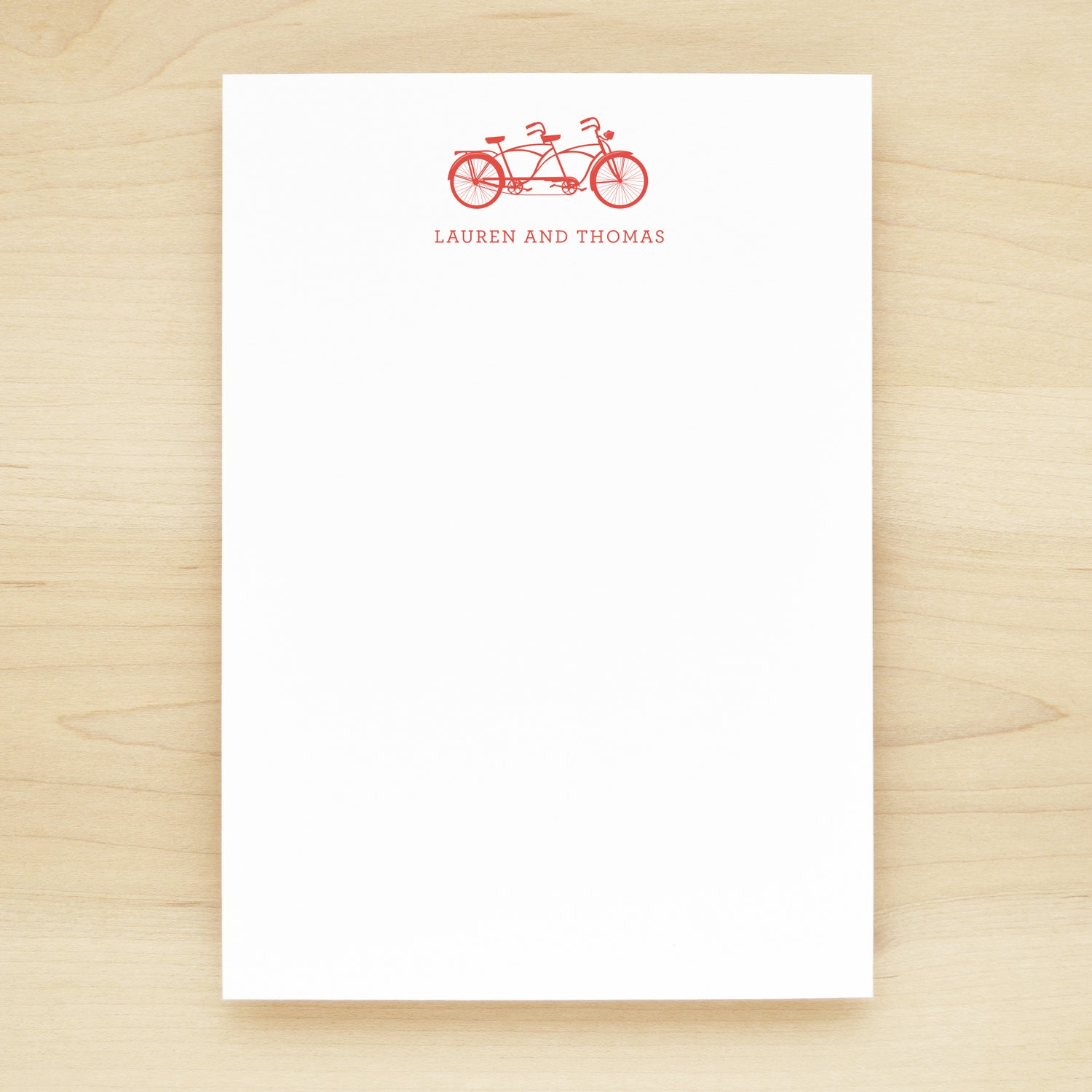 Tandem Personalized Notepad