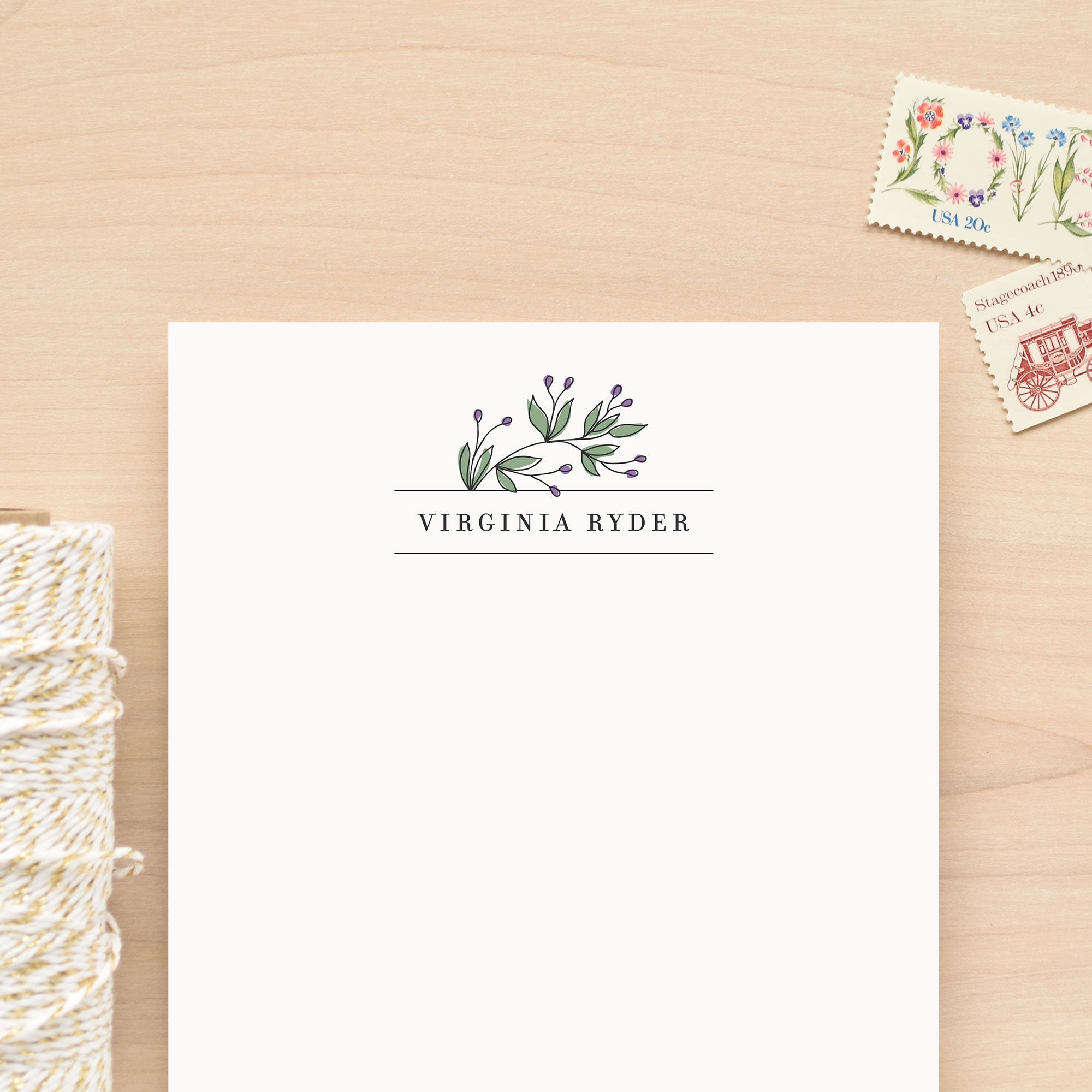 Vineyard Personalized Notepad