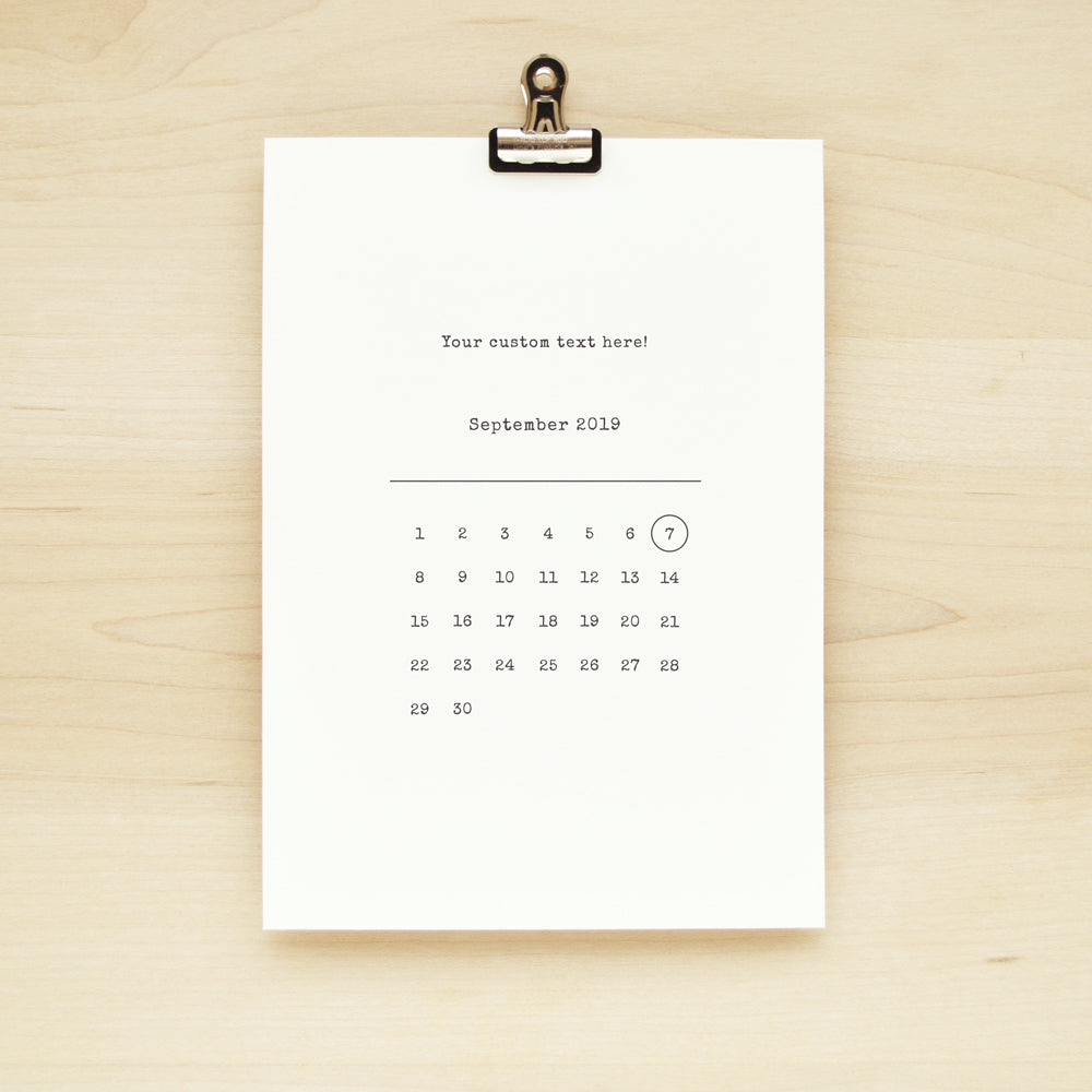 Write Your Own! Calendar Art Print