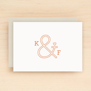 Ampersand Personalized Stationery