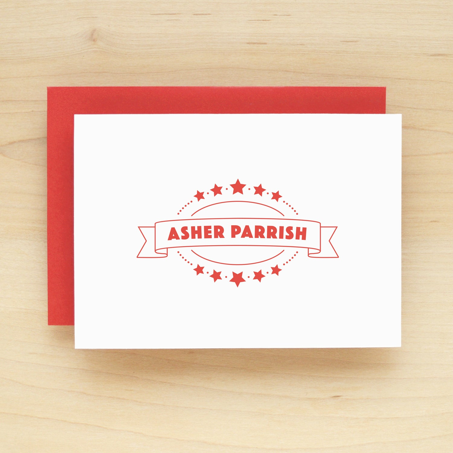 Badge Personalized Stationery