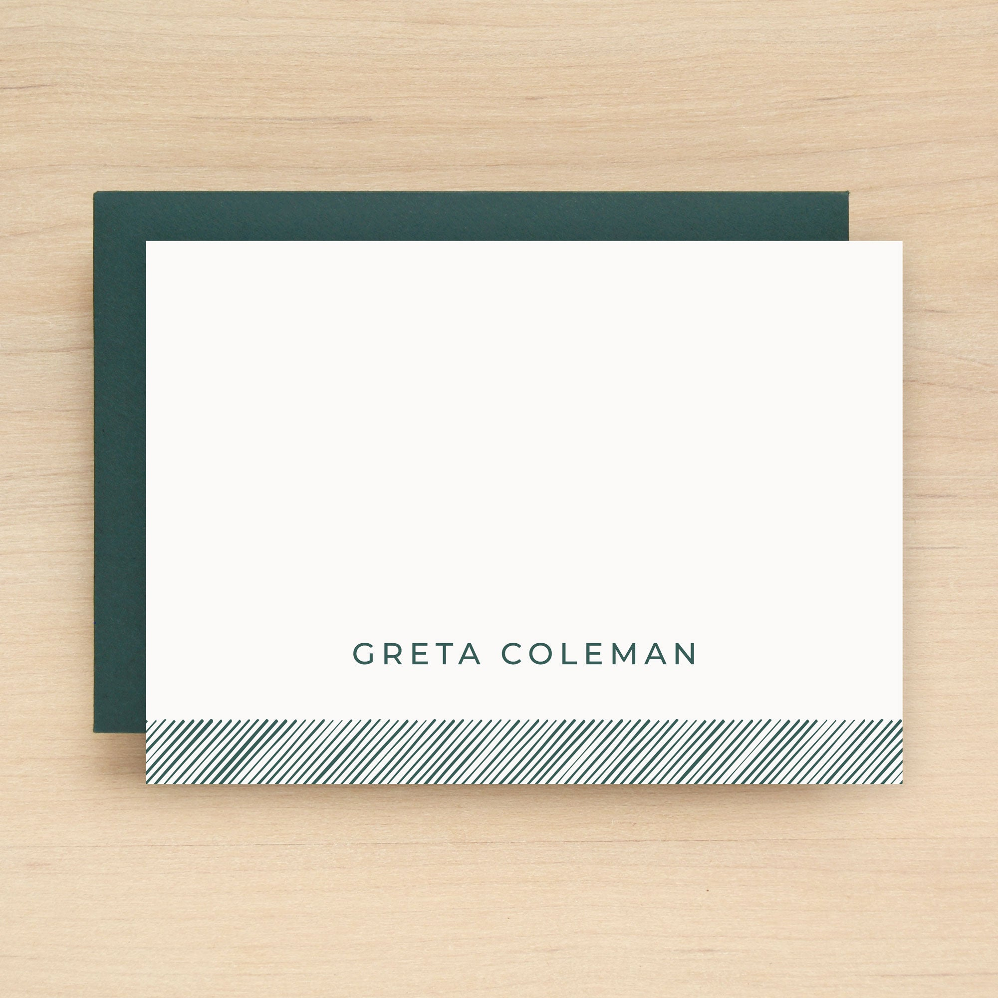 Bevel Personalized Stationery