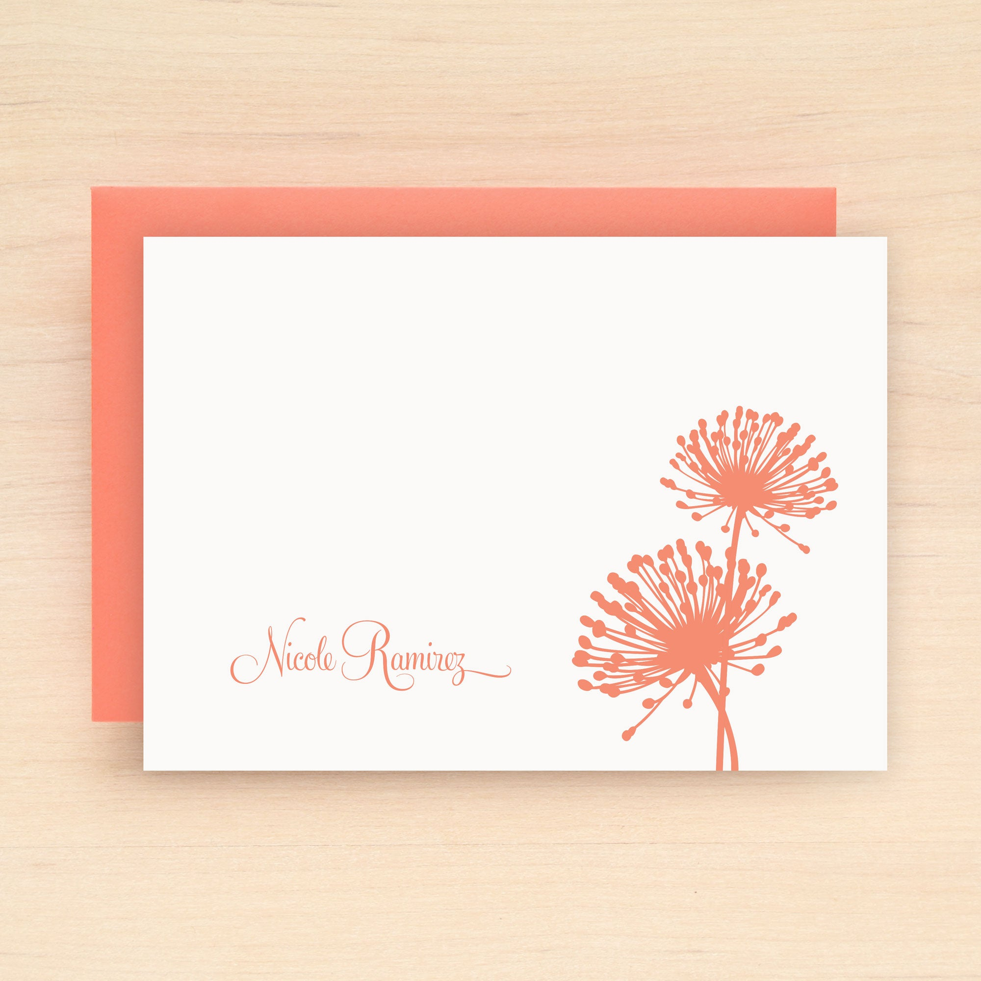 Bloom Personalized Stationery Set
